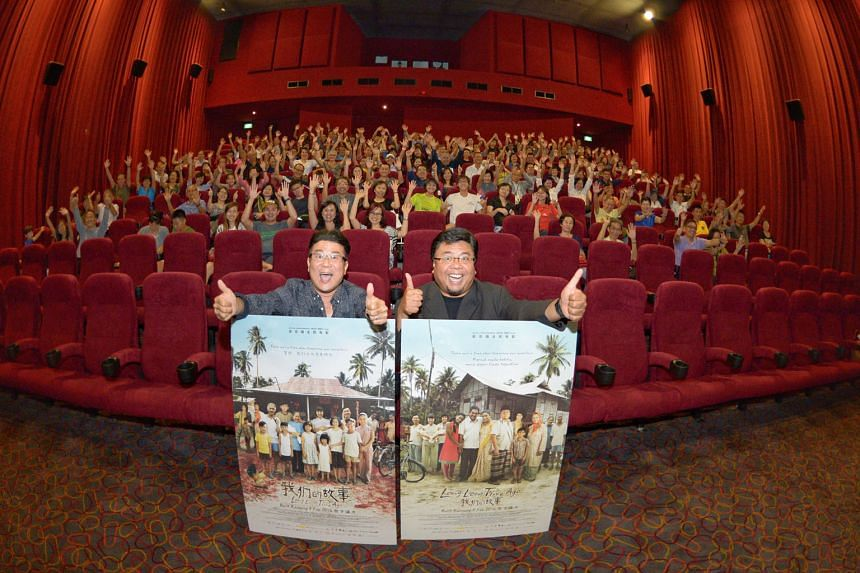 Local film director Jack Neo (left) took 200 Straits Times readers on a trip down memory lane last night at a special early screening of his new film, Long Long Time Ago. It follows the story of a Singapore family in the 1960s and 1970s. After the ev