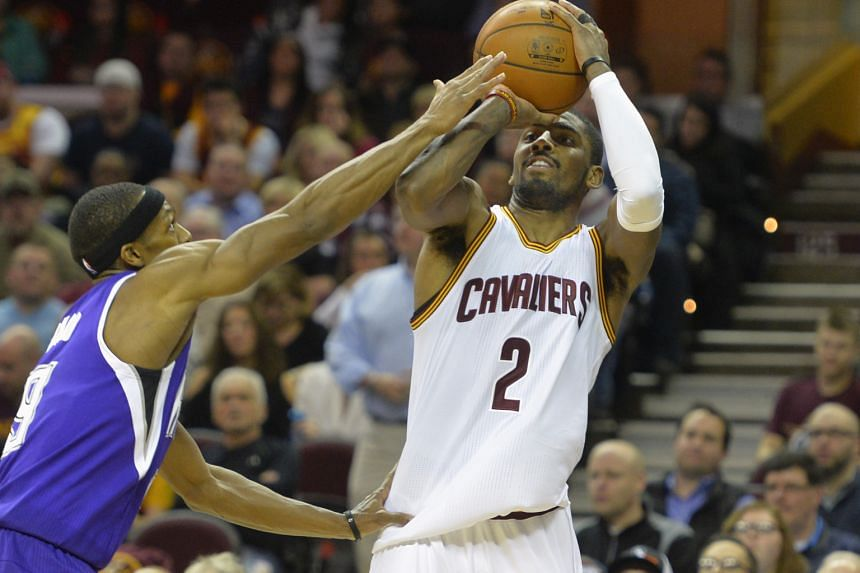 Kings guard Rajon Rondo fouling Cavaliers guard Kyrie Irving on a made three-point basket in the fourth quarter. Irving is still not fully fit but matched his season-high score and tied his career best of 12 assists, as Cleveland won 120-100.