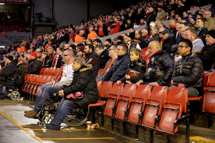 Some Liverpool fans leaving in the 77th minute of the match against Sunderland in protest against the £77 top pricing for tickets in the newly reconstructed Main Stand. To make things worse, the Reds, leading 2-0 at the time, conceded twice late on
