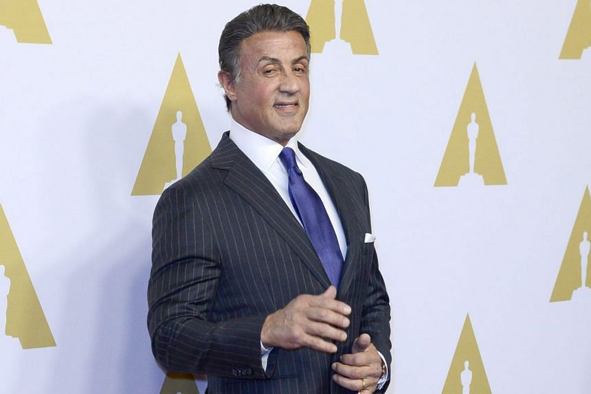 Nominees at the Academy Awards luncheon on Monday included Alicia Vikander, Sylvester Stallone (above), Matt Damon and Rooney Mara.