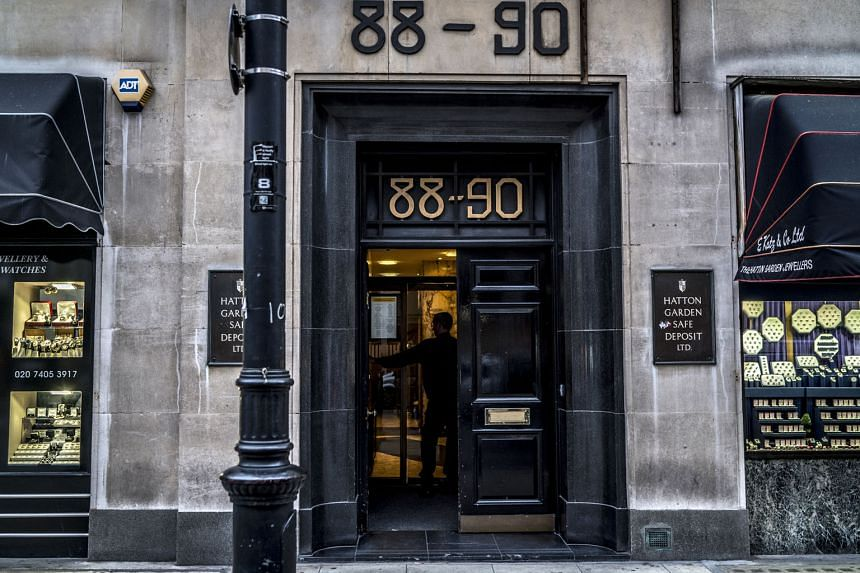 The entrance to the Hatton Garden Safe Deposit bank, where four ageing thieves stole US$20 million (S$28 million) in gold, jewellery and gems over the Easter weekend last year.