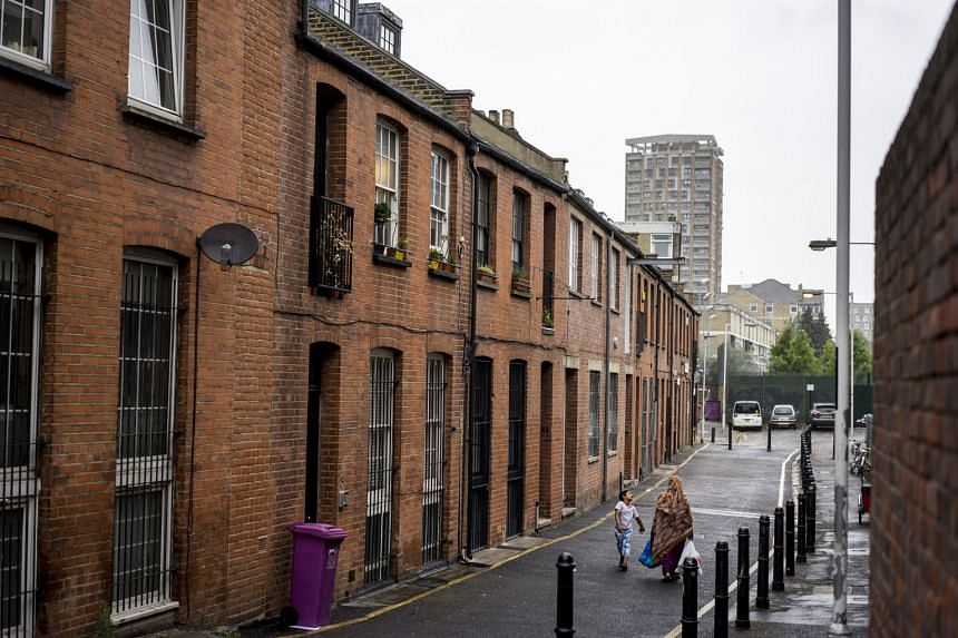 A street in the Bethnal Green neighbourhood of East London, home to a conservative Muslim community, where several teenage girls were drawn to Islamic State in Iraq and Syria militants. Britain's programme encouraging fellow citizens to identify pote