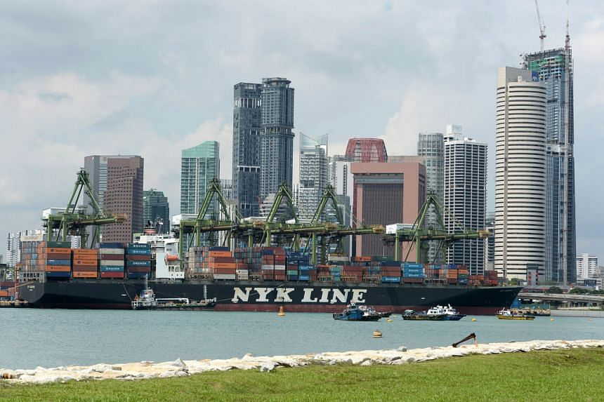 Singapore's container terminal port. Indicators released last month showed the economy ended last year on a lacklustre note, adding to fears that global headwinds will keep Singapore's trade-dependent economy on a wobbly footing this year.