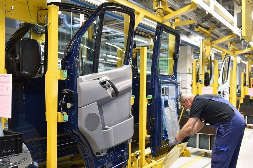 Mercedes vehicles being manufactured in Lundwigsfelde, Germany. Sustained low oil prices and inflation are expected to fuel private consumption.