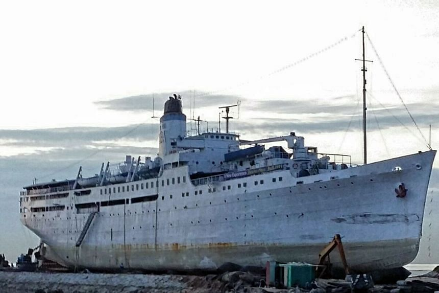 Doulos Phos The Hotel hopes to open by Christmas or early next year. Old wash basins and frames of bunk beds will find new homes in the refurbished ship, which used to transport onions and first-class passengers, and even served as a floating booksho
