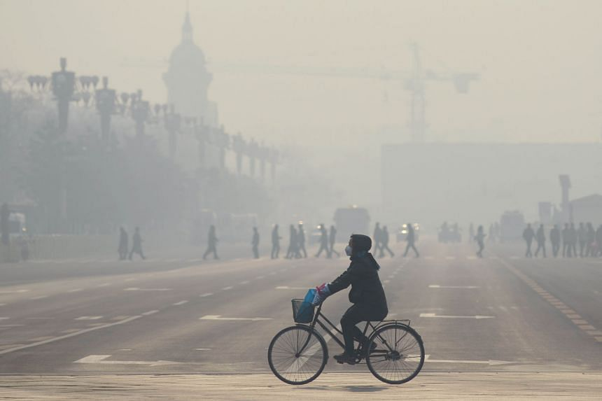 Some 1.6 million people died of air pollution in China in 2013, while India saw 1.4 million deaths. In China, burning coal is the biggest contributor to poor air quality. Beijing (left) sees daily particulate matter levels at or above 300 micrograms