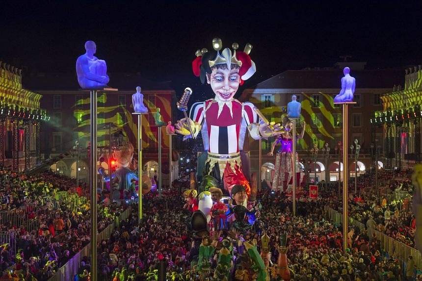 A float titled The King Of Media going through crowds at the 2016 Nice Carnival in Nice, France, last Saturday. The event, which runs from Feb 13 to 18, is one of the biggest and most spectacular carnivals in the world, with giant, colourful parades