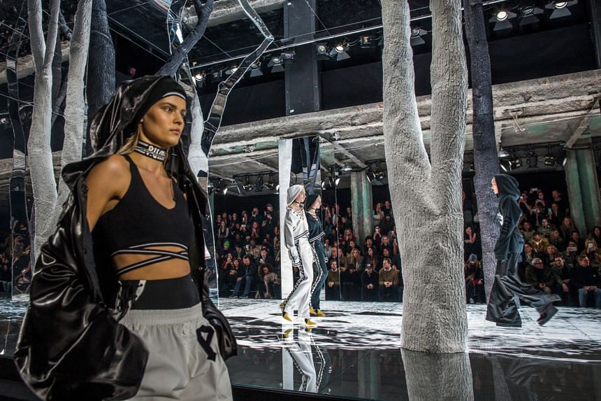 Rihanna offered a collection that mixed Puma's sports heritage with something more like street-wear (above).
