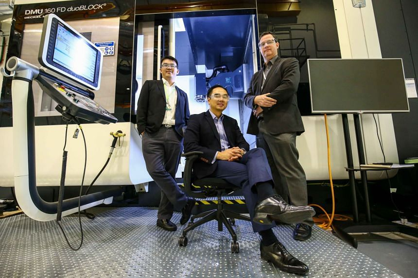 (From left) ARTC technical director Nicholas Yeo, CEO David Low and strategic development and collaboration director David Butler at the centre which developed the laser metal deposition process.