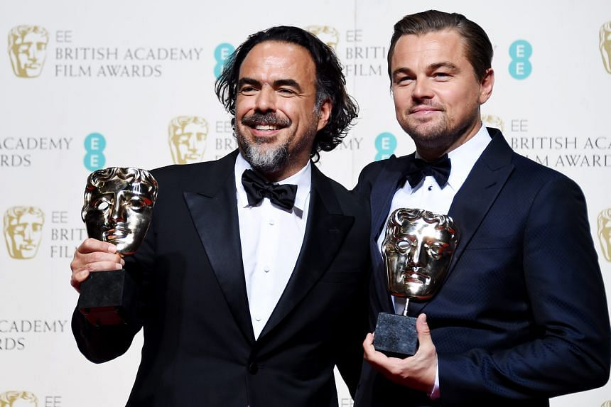Alejandro Gonzalez Inarritu (left) won Best Director and Leonardo DiCaprio received Best Actor for The Revenant at the Bafta awards in London on Sunday.
