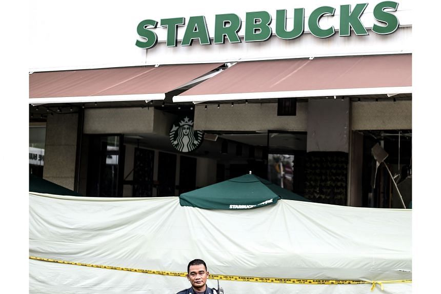 This Starbucks outlet was at the centre of last month's gun and bomb attacks in Jakarta that killed four civilians and four assailants.