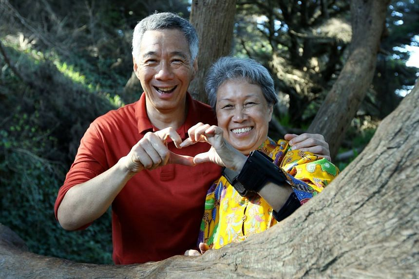 Prime Minister Lee Hsien Loong and his wife, Mrs Lee, made the sign of a heart as they marked Valentine's Day at Land's End Trail in San Francisco. Mr Lee wished Singaporeans a belated happy Valentine's Day, due to the time difference, on his Faceboo