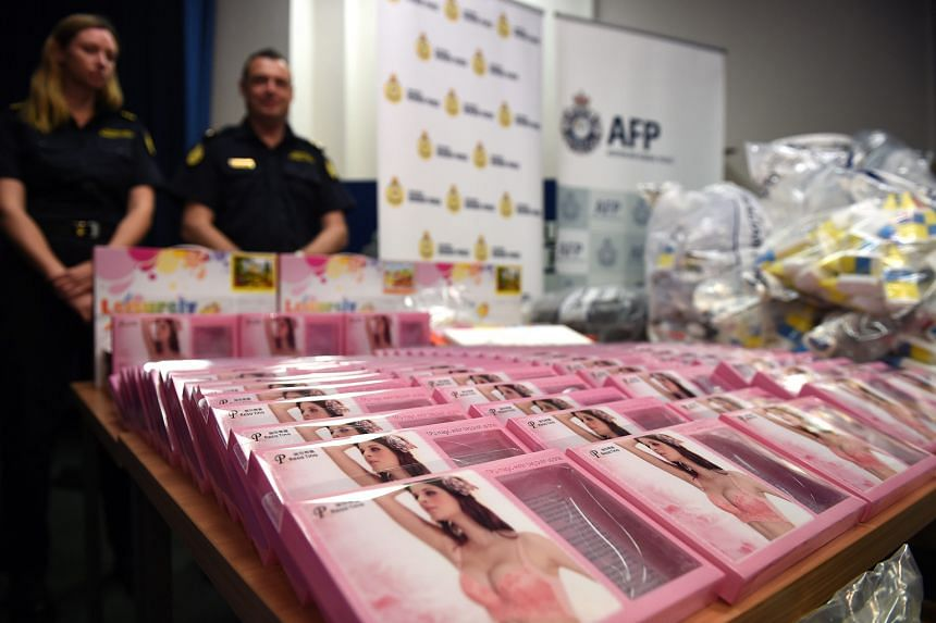 The haul worth more than $1 billion, which included gel bra inserts containing 190 litres of liquid methamphetamine, is one of the largest drug seizures in Australian history.