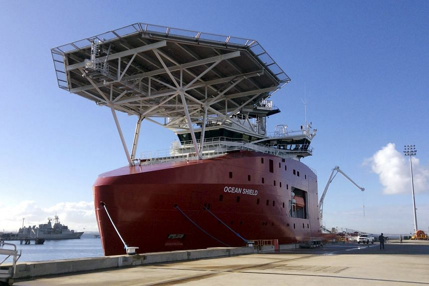 The Australian naval vessel Ocean Shield was carrying the underwater drone searching for MH370 when the submersible vessel collided with a volcano rising 2,200m from the seabed and sank. Mr Martin Dolan, who is heading the search for MH370, says he s