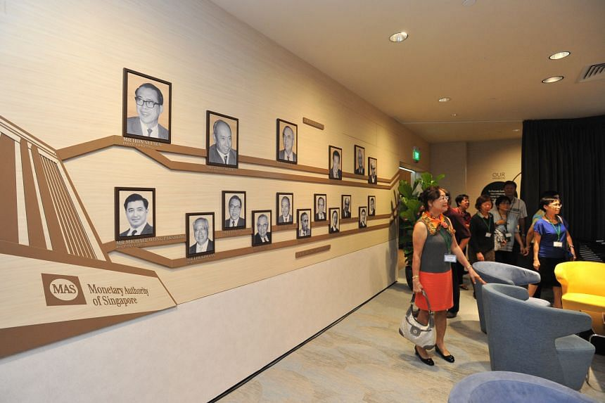 The MAS Gallery is an exhibition that showcases the central bank's work and development over the years, and includes a photo wall of past and current MAS chairmen and managing directors.