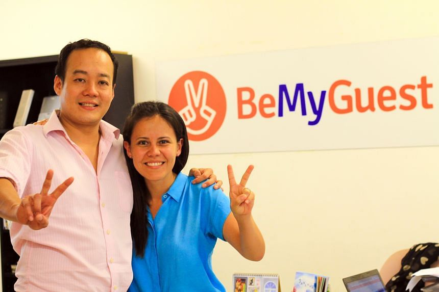 Mr Wong and Ms Blanca Menchaca, co-founders of BeMyGuest, which was named one of the 50 most innovative companies in the world by US innovation magazine Fast Company.