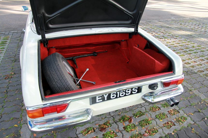 Mr Bryan Ghows drives his white 230SL in the evening when it is not raining and on weekends.