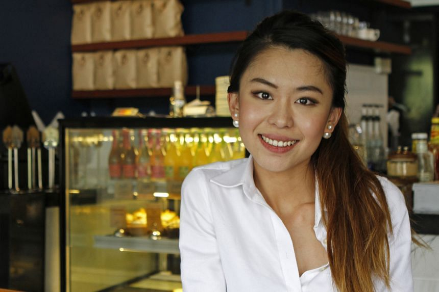 Cafe owner Daphne Goh says running her own business has helped her to become more independent.