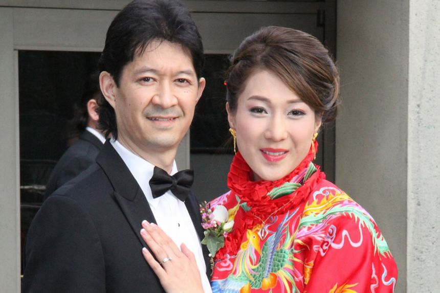 Bride #1: Newlyweds Linda Chung and Jeremy Leung at their banquet in Vancouver last Saturday.