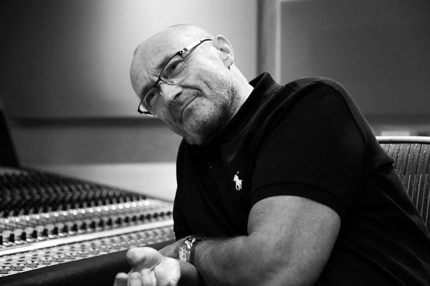 Phil Collins put updated images of himself in the same style and pose for all eight albums, including Dance Into The Light, Face Value, Hello, I Must Be Going! and Both Sides.