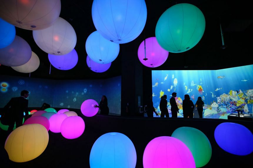 An example of the type of immersive art installation visitors can expect is the Light Ball Orchestra, where the light balls produce sound and colour when touched. The balls also react to each other, so the more players, the more effects.