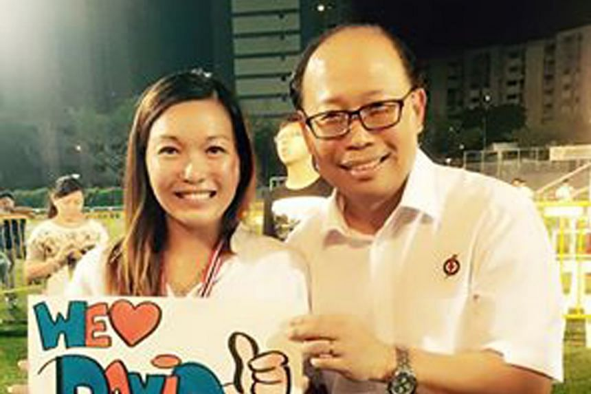 Photographs on the Bukit Batok PAP Women's Wing Facebook page showed that Ms Wendy Lim (above, with Mr Ong) had been participating in grassroots activities in Bukit Batok and supported the party during last September's general election campaign.