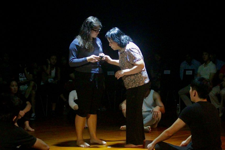 SMU and ITE students put up a production titled Mama, Big Bird And The Cat last November.