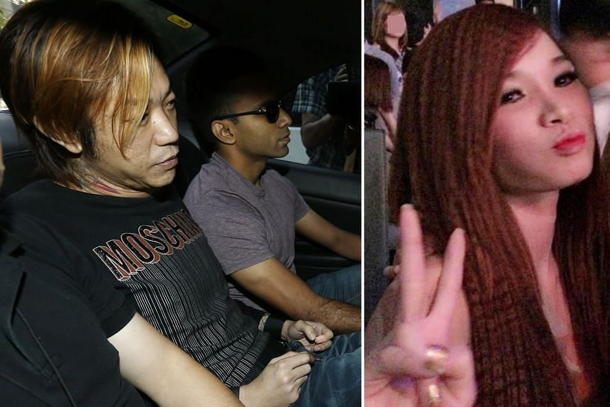 Lim (far left) and Ms Ny (left) started quarrelling and fighting in his rental flat after they both took Ice. He pressed a blanket to her face and mouth to stop her from shouting, and she was later pronounced dead at the scene.
