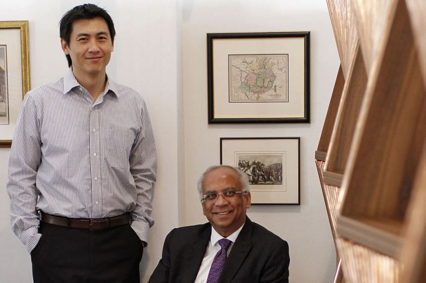 Mr Siddique (left) and Mr Yeung (far left) are looking for smaller Singapore companies to add to the Tigris Water Fund's portfolio.