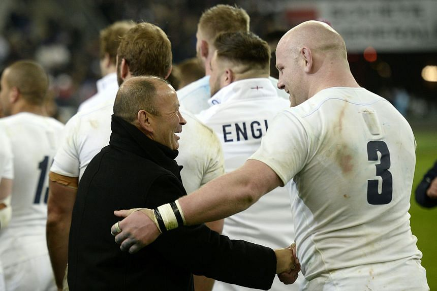 Job well done, England rugby coach Eddie Jones tells tighthead prop Dan Cole after they beat France 31-21 in the Six Nations.