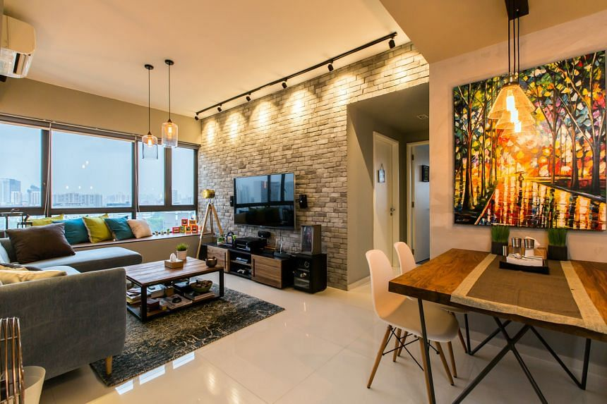 Mr Sun's home at The Interlace condo was renovated using Hall Interiors, an interior designer that the social media manager found through the Qanvast app, which features more than 200 designers.