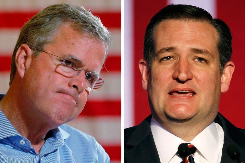 Mr Bush (top) says his fellow Republican Ted Cruz (above) is a consistent, principled conservative who has shown an ability to appeal to voters and win primary contests.