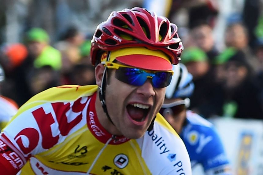 Demoitie was hit by a motorbike after he fell with several riders during the Gent-Wevelgem race.