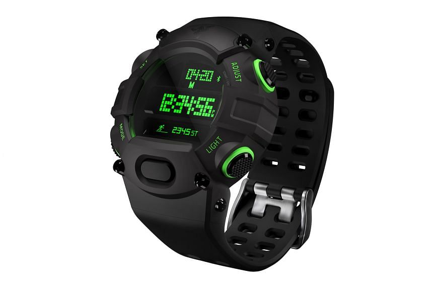The Razer Nabu Watch has a futuristic green time display on its main clock, which gives it a rather cool appeal.