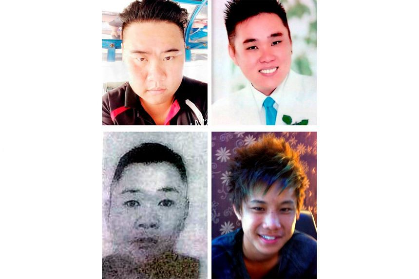Gunmen seized Malaysians (left, from top) Wong Teck Chii, 29, Wong Teck Kang, 31, Johnny Lau Jung Hien, 21, and Wong Hung Sing, 34, from a tugboat near Ligitan island off the east coast of Sabah last Friday. Last month, gunmen linked to the Abu Sayya