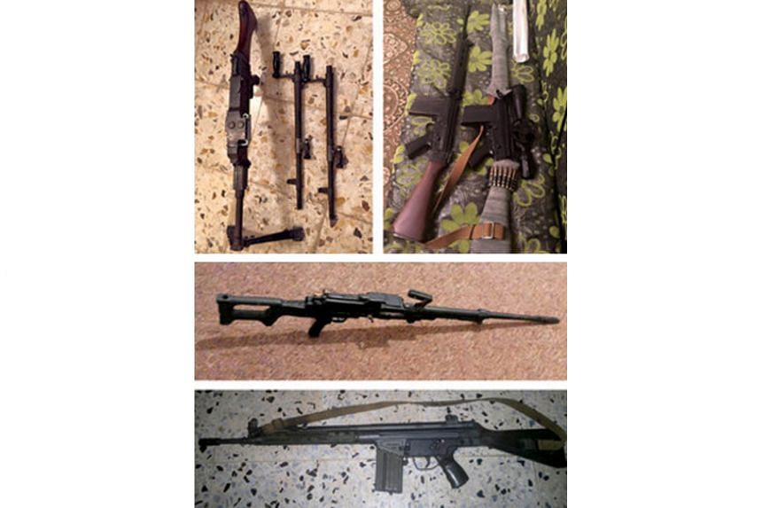 Images posted by Facebook groups in Libya advertising machine guns and rifles. These online bazaars violate Facebook's recent ban on the private sales of weapons.