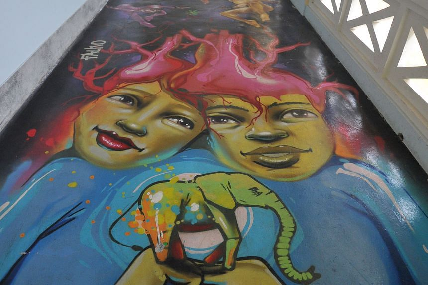 The Graffiti Walk at Singapore Pinacotheque de Paris was still open to visitors as was its free-admission heritage museum about Fort Canning.