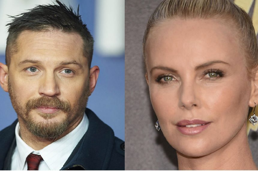 ACTRESS CHARLIZE THERON confirming that she and co-star Tom Hardy did not get along on the set of Mad Max: Fury Road (2015)
