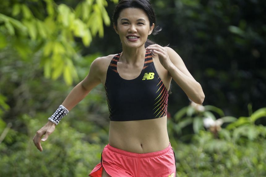 Ms Huang runs in about 12 races a year. She has a salad for lunch on most days, but indulges in desserts now and then.