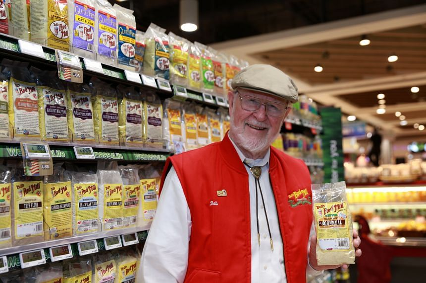 Mr Bob Moore's packets are covered with text extolling the virtues of their contents, the typeface recalling an America of horses, buggies, small-town values and real food.