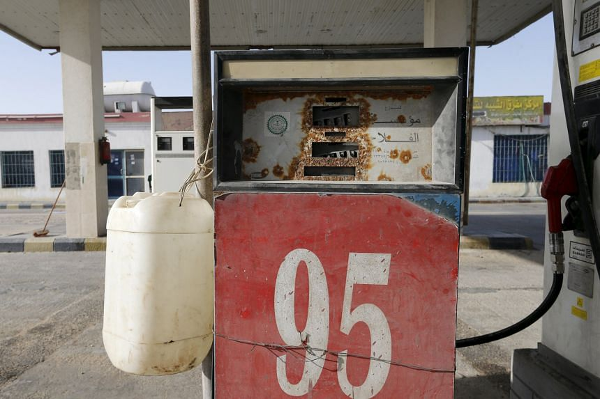 A fuel pump near Salwa village in Saudi Arabia. Like other major oil producers, Saudi Arabia has been hit by the continued slump in oil prices.