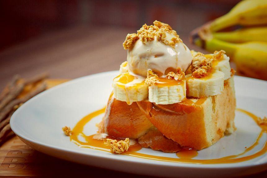 Banana caramel gateau ($12)