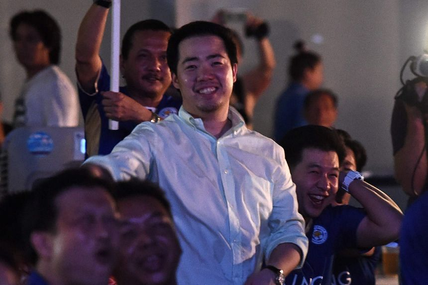 Aiyawatt Srivaddhanaprabha, son of Leicester City owner Vichai, watched the game alongside jubilant Thai fans at the King Power headquarters in Bangkok.