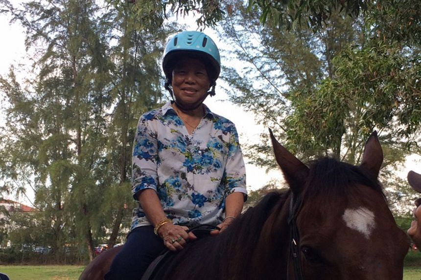 Madam Lim Ah Boey had crush injuries and died in hospital after the horse she was on lost its balance and fell on her.