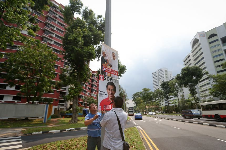 Posters of the two candidates have gone up at various spots in the mature estate in western Singapore. So far, the issue of estate upgrading has figured prominently in this campaign.