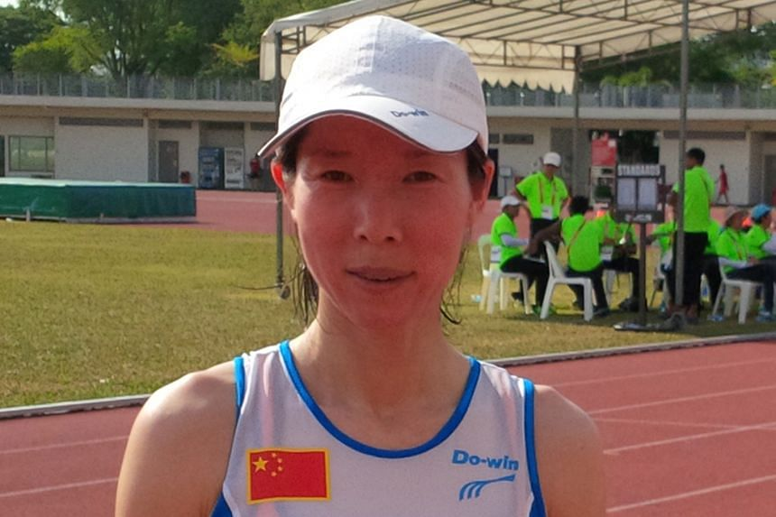 Gao Hongmiao won four golds at the Asian Masters Athletic Championships.