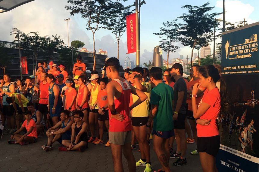 A total of 80 runners took part in the final training run for The Straits Times Run in the City at the Sports Hub yesterday morning. The training run was exclusive to participants of the 18.45km race category and was conducted by Running Department.