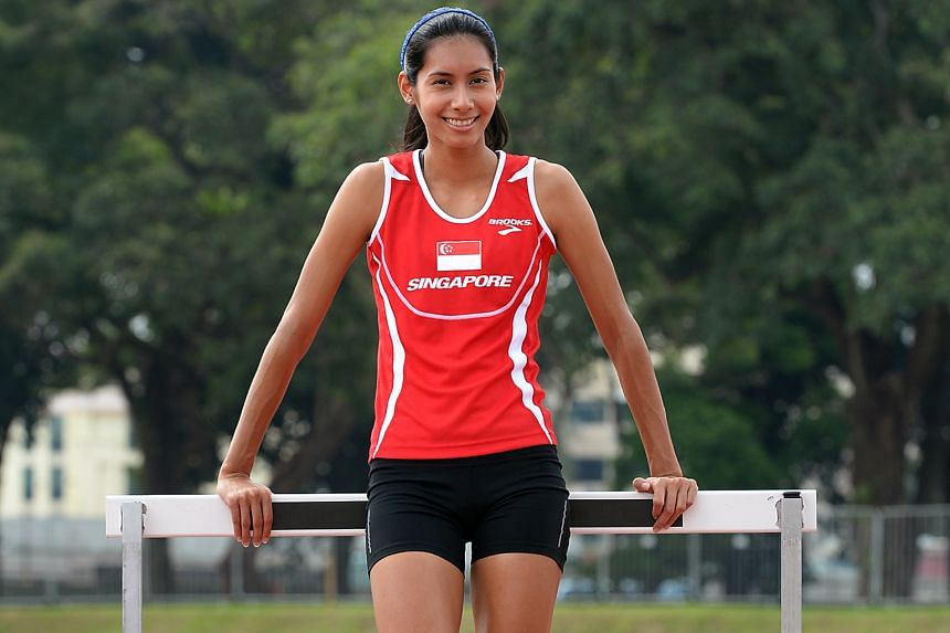 Sprinter Dipna Lim-Prasad was running only her second race after an ankle injury in December.