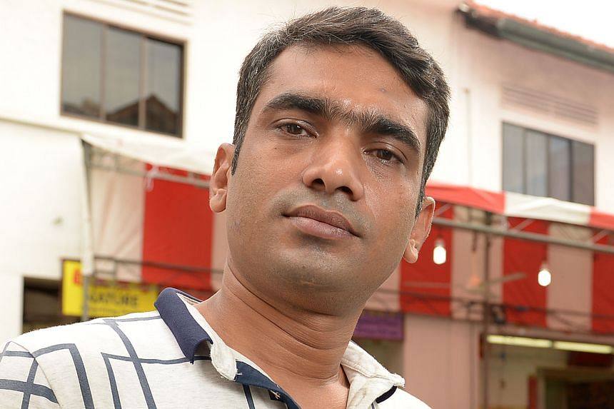 BANGLADESHI CONSTRUCTION WORKER RASEL J. M., on finding out that he could be, unwittingly, working illegally in Singapore.