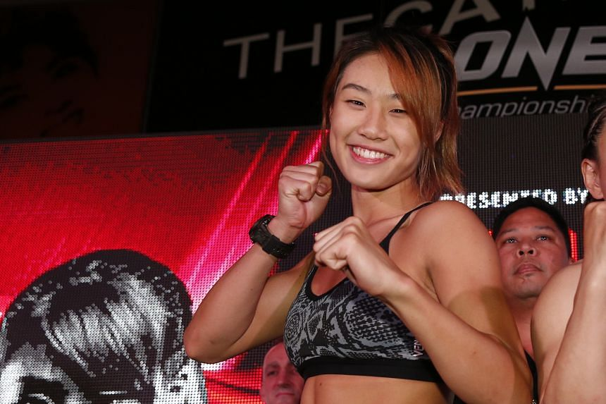 """Angela Lee said her new contract, signed last week, will """"continue to motivate me to grow as a fighter in One Championship""""."""